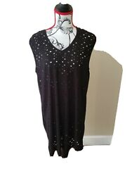 WOMENS Beach Bathing Suit Cover up WOMENS SIZED PLUS1XL BLACK HOODED $29.99