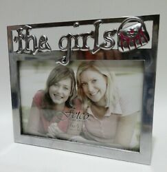 Fetco Home Decor quot;the girlsquot; Metal Pewter 4x6 Picture Photo Frame F435164 $16.99