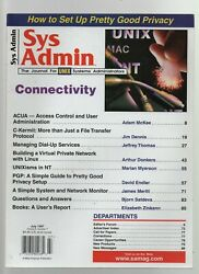 Sys Admin - July 1997 - Connectivity Privacy ACUA C-Kermit Dial-Up Services $1.50
