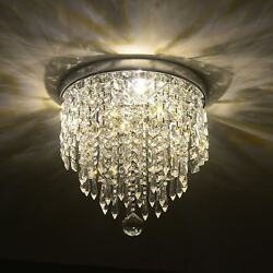 3-Light Crystal Chandelier Ceiling Fixture Pendant for Bedroom