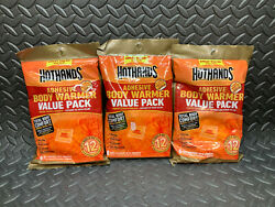 Lot of 3 Value Packs HotHands Adhesive Body Warmers 24 Warmers - Exp: 2023 $17.98