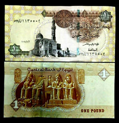 Egypt 1 Pound Banknote World Paper Money UNC Currency Bill Note $1.95