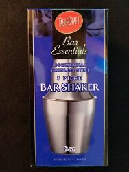 New TABLECRAFT Commercial Mini 3 piece Stainless Steel 8 oz Bar Cocktail Shaker