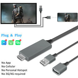 1080P HDMI Mirroring Cable Phone to TV Adapter For iPhoneSamsungiPadAndroid $15.95