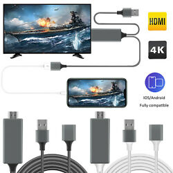 1080P HD HDMI Mirroring Cable Phone to TV HDTV Adapter For iPhone iPad Android $14.95