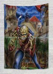 wall hanging room decoration pictures Eddie Iron Maiden tapestry cloth poster $17.89