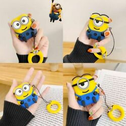 AirPods Minions Cartoon Silicone Case cover For Airpod 1 & 2 Wireless Charging $9.99