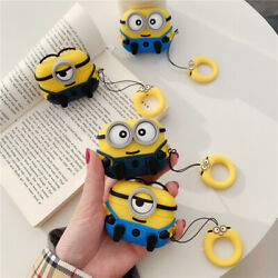 AirPods Minions Cartoon Silicone Case cover For Airpod Pro Wireless Charging $9.99
