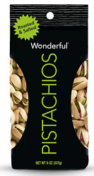 Wonderful Roasted amp; Salted Pistachios 8 oz $9.87 FREE SHIPPING $9.87