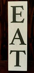 EAT Sign Farmhouse Country Decor Kitchen Cabin Bar Pub Rustic Wood Wall Art 18quot; $13.95