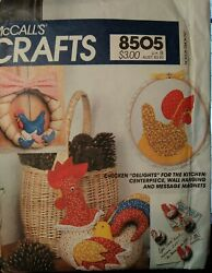 Chicken Kitchen Decorations Centerpiece Wall Hanging Magnets McCall#x27;s 8505 $3.00