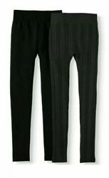 Time And Tru Women#x27;s 2PK Cable Knit And Plain Legging Size 3XL 22 $15.99