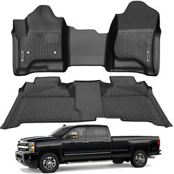 OEDRO Floor Mats Liners TPE for 2014 2018 Silverado Sierra Crew Cab All Weather $99.99