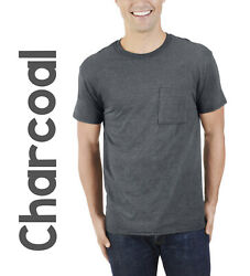Big Men's Fruit of the Loom Platinum or Eversoft SS Pocket T shirt— 3XL or 4XL $10.49