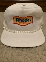Vintage Rhodes Bake And Serve Strapback Hat Advertising Bread $12.74