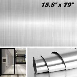 Stainless Steel Silver Contact Paper Vinyl Self Adhesive Film Kitchen Countertop $11.75