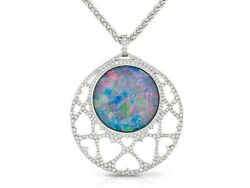 Stephen Webster Opal & Diamonds Pendant - Chain 16 inches White Gold 18k
