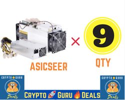 🔥Steal the Deal🔥 9 Qty Antminer S9 FREE 9 Qty Bitmain PSU 🚀 FREE SHIPPING📦 $990.00