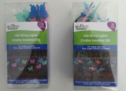 LED STRING LIGHTS-- BUTTERFLY OR DRAGON FLIES  --ASSORTED COLORS $3.75