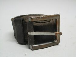 Mens Next Brown Distressed Leather Belt Size 36 Brass Buckle $18.95