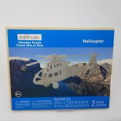 Creatology: Wooden Puzzle Helicopter $6.95