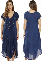 Riviera Sun Plus Size Dress Short Sleeve Dresses for Women Dark Denim $24.68