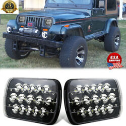 Pair Black H5054 H6054 7x6 5x7 LED Headlights for Jeep Wrangler YJ Cherokee XJ $39.99