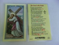 THE CROSS IN MY POCKET LAMINATED HOLY PRAYER CARD FREE SHIPPING $1.85