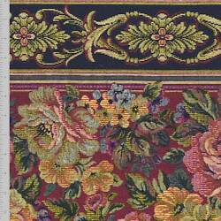 Red Antique Beige Multi Floral Tapestry Decorating Fabric Fabric By The Yard $29.45