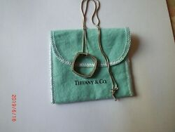 Tiffany & Co Frank Gehry Pave Diamonds 18k White Gold Torque Pendant Necklace