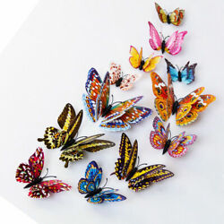 12Pcs 3D Glow in The Dark Butterfly Wall Decal Removable Sticker Bedroom Decor A $6.99