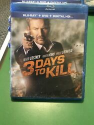 3 Days To Kill Blu Ray & DVD Combo - Brand New - Sealed! $7.00