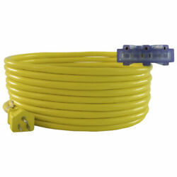 Conntek 123  Multi Outlet Outdoor Extension Cords 2ft to 100ft  UL Listed $10.50