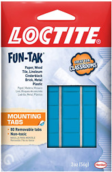 Loctite Home and Office 2 ounce 80 Pack Fun tak Removable Mounting Putty Tabs $2.43