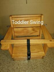 Free Engraving Oak Toddler Wood Swing Personalized Wood Swing Swing Child Swing $129.00