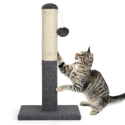 21.65quot;Cat Scratching Post Sisal Pole Post Soft Corduroy Safe Stable for Pet $18.90