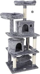 Furniture Activity Cat Tree Condo Pet 57quot; Tower Play House with Perches Hammock $62.99