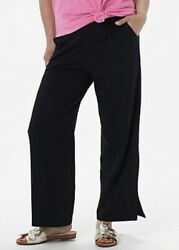 Denim & Co. Petite Beach Pull-on Pants with Side Slits A351804 $22.50