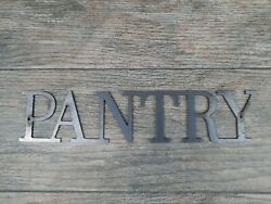PANTRY Metal Sign Wall Art Decor Steel Rustic home Farmhouse Letters $17.95