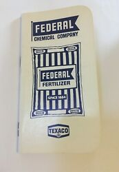 Federal Fertilizer Chemical Co Superior Texaco Advertising Notepad Notebook $1.99