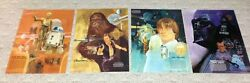 ORIGINAL SET OF 4 STAR WARS POSTERS - BURGER CHEF 1977****GUARANTEED QUALITY*** $49.99
