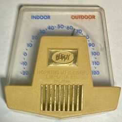 """Vintage """"Hoppy"""" Indoor Outdoor Small Thermometer Made By Hopkins Kansas USA $8.99"""