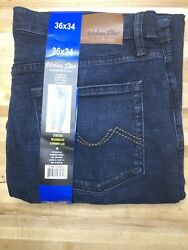 New Urban Star Men#x27;s Relaxed Fit Straight Leg Jeans Blue 36x34 $28.99