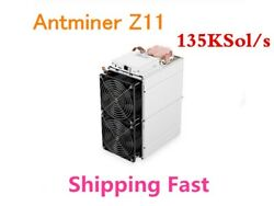Bitmain Antminer Z11 used in Mint conditon + PSU 135ksols in hand in USA