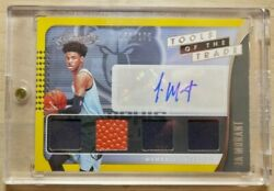 2019 Panini Absolute Tools Of The Trade TT4-JMT JA MORANT Rookie Patch AUTO /175 $399.00