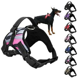 Dog Vest Harness Adjustable No Pull Leash Collar Set Handle Large Medium Small $7.89
