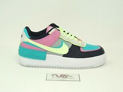 Nike Air Force 1 Shadow Barely Volt Oracle Aqua - Size 6W - 9W (ALL SIZES) - NEW $139.99