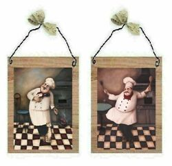 Chef Pictures Fat Cooks Singing Dancing Cat Kitchen Decor Wall Hangings Plaques $7.99