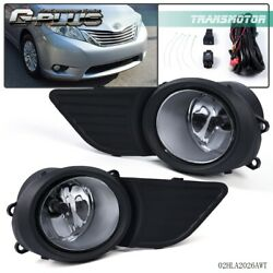 For Toyota Sienna 2011 2017 Fog Light Grille Front Driving Lamp Assembly Kit $24.90