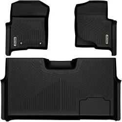 OEDRO Floor Mats Liners TPE for 2010 2014 Ford F 150 F150 Super Crew Cab Black $119.99